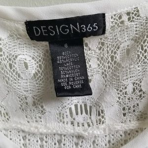 Design 365 Tops - Design 365 Open Knit  Lace Sleeveless Top White Sm